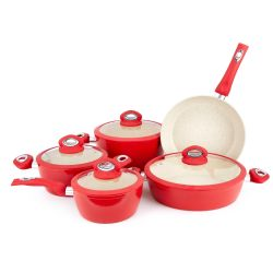 Maifan Nonstick Cookware-gesetzter Eintopfgericht-Potenziometerwok-Wannen-WanneThree-Piece Cookware-gesetzter KüchesteincookwareNonstick Cookware-Set