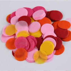 """عرض البحر العزوبية القابلة للتحلل البيولوجي ورقة الأنسجة Confetti مخصص على شكل دائري تمزيق ورق الأرز من نوع """"الحلوط"""""""