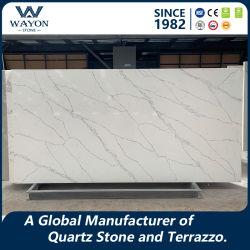 Material de construcción al por mayor piedras naturales pisos de granito/Cuartz azulejo mosaico de piedra/Ingeniería de losa de piedra para la cocina encimera WG437