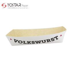 Placa posterior de la estraza multicapa desechables envases de alimentos verificación/sándwich de pollo frito/ Hot Dog