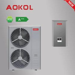 Nuove pompe di calore a gas R32, pompa di calore aria-acqua con inverter CC Evi con WiFi. ERP a+++, riscaldamento a pavimento aria condizionata centralizzata