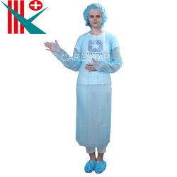 [وهولسل بريس] [هيغقوليتي] مستهلكة مسيكة بلاستيك [كب] عمليّة عزل عباءة مع طويلة كم وإبهام أنشوطة, واقية, مئزر [سنغل-وس]