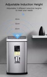 새로운 도착 6L Touchless Sensor Trash CAN 스테인리스 스틸 자동 휴지통 스마트 폐기물 저장소