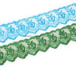 Les fabricants de textile en organza de gros de la dentelle robe de mariée broderie dentelle de mode