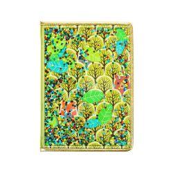 子供のためのPVCアートペーパーカバーが付いている森林デザインハードカバーのノート