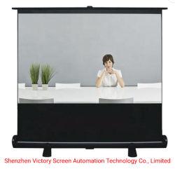 Vitória 4K HD piso portátil de ecrã elevável 60polegadas 16: Tecido 9 Material de vidro puxe Ecrãs de projecção para o Office