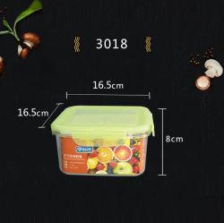 (1,4L) Lebensmittelqualität Kunststoff-Lebensmittelbehälter mit Farbdeckel für Haushalt