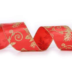 Блестящие цветные лаки атласная лента всей оптовой красный плоский на Рождество ремесла