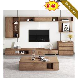 Comercio al por mayor de madera Salón Moderno personalizado soportes de TV y mesa de café