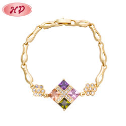 Überzogenes Lether Charme-Armband der Form-14K 18K Gold mit Kette für Mann-Frauen-Armband-Armband-Schmucksachen