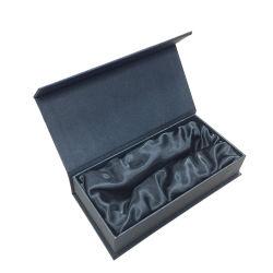 맞춤형 인쇄 블랙 판지 종이 선물 마그네틱 포장 상자 인쇄 새틴 라이닝
