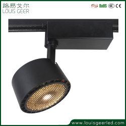 Lens+Reflector het Warme Wit van de Inrichting van de LEIDENE Verlichting van het Spoor 30W. 15 24 38 Graad, Witte Zwarte beëindigt LEIDENE van de Optie Lichte Lamp