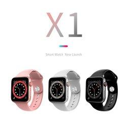 2021 بيع ساخن ساعة ذكية جديدة X1 النساء ساعات الرجال ساعة يد متتبع اللياقة البدنية سوار رياضي معصم مقاوم للمياه مع ساعة ذكية لنظام التشغيل Android iOS ساعة