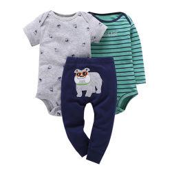 Новые малыша из трех частей хлопка Romper Pant установить
