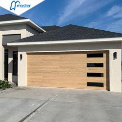 Seguridad de metal moderno de puerta de garaje seccionales de toldo exterior con Windows