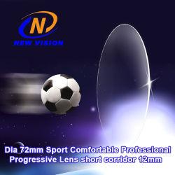 Dia 72mm Sports Mensoogglazen comfortabele professionele progressieve lens Korte corridor 12 mm