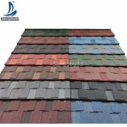 뉴질랜드 지붕재 제조업체, 저렴한 비용 갈바니화된 알루미늄 판 골판지 색 석재 코팅 지붕 타일 소말리아 남아프리카 자메이카