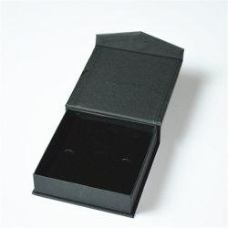 ممغنط الجملة الساخنة الشعار طباعة ورقة خاصة يدوية الصنع مع رغوة إدراج مربع مجوهرات سوداء لحشوة عقد الأرانك