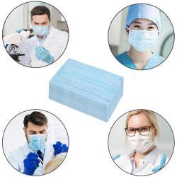 고품질 3-플라이 통기성 일회용 의료 보호 비-우븐 3플라이 페이셜 녹은 귀걸이 면 마스크 오븐이 아닙니다