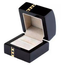 Negro Anillo de la laca de gama alta Premium Caja de madera