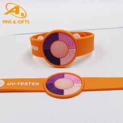 طاقة عدسة جديدة من السليكون الحساس لمختبر الأشعة فوق البنفسجية عالية الجودة مخصص السليكون الساحر Bracelet الطرف الهدايا الترويجية