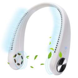 Мода ленивой портативные системы охлаждения воздуха висящих горловины аккумулятор USB вентилятора вентилятор с шейным ободом Hand-Free персональный мини-горловину вентилятора для девочек подарок