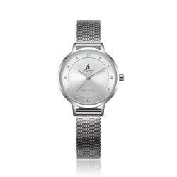 Commerce de gros de bijoux de maille en acier inoxydable Watch Mesdames Quartz montre-bracelet cadeau (JY-006A)