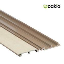 合成の高温抵抗のボードWPCは外部木100mm壁のクラッディングにパネルをはめる