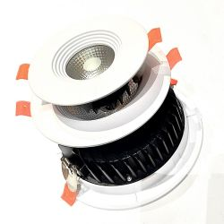 Luzes Slim COB 5W 40W LED ajustável luminária de luz para baixo