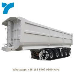 5 6 Achse 50 60t 80 100 Ton 40 45 50 Kubikmeter Kipper U Typ Dump Semi Trailer Dumper Kohlekraftwagen