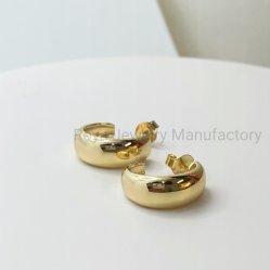 Het Goud van de Juwelen van de manier 18K plateerde Zilveren Hoepels 925 Echte Zilveren Oorringen