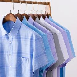 Summer's New Crisp Ice Silk Camiseta de manga corta para hombre imitación Lino fino Casual de mediana edad camisa delgada Hombre