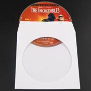 Sunshing Hot vendre bon marché papier CD manches PP CD DVD Cas manches couleur OEM CD sac en plastique de l'emballage