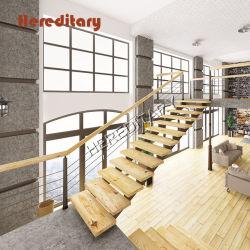 Деревянные двойные педали управления подачей топлива продольной балки Поручень из нержавеющей стали поручни лестницы