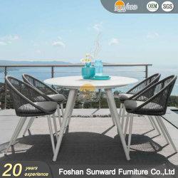 실내 현대 최신 판매 홈 휴양지 호텔 고리 버들 세공 등나무 밧줄 및 의자 가구를 식사하는 옥외 대중음식점