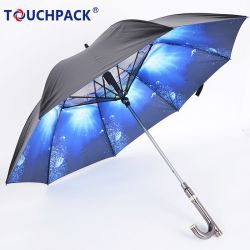 مصنع [غود قوليتي] سعر جيّدة 23 بوصة ترويجيّ صامد للريح مستقيمة نوعية مظلة مع فريد صنع وفقا لطلب الزّبون تصميم