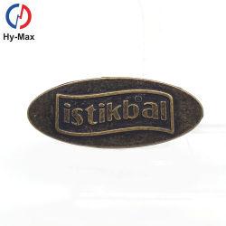 حقيبة الأزياء الأصلية Die Cast التي تصنع نقشاً من المعدن علامة شعار العلامة التجارية للحقائب اليدوية حقيبة الملابس