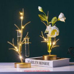 Le style nordique en fer forgé tube à essai de la culture hydroponique de verre Petite salle de séjour d'éclairage de décoration de table de restaurant d'ornements de vases