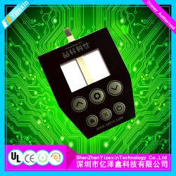 Personalizados económicos botón interruptor de membrana translúcida de Panel con pantalla LCD
