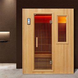 Melhor Preço Cedro tradicionais da Finlândia Cicuta Wood 2 Pessoa Mini Sala de cabina muito seca sauna de infravermelhos