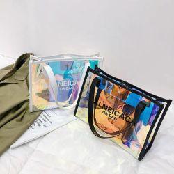 As mulheres a Laser Zoras/Senhoras saco, PVC impermeável/TPU Shoulder Tote Sacola de Compras