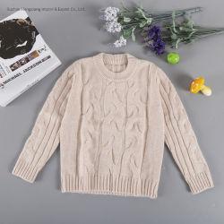 2020 50% de lã merino em acrílico de 30% 20% nylon suéter crianças 5gg cabo grosso pulôver.