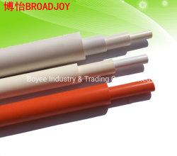 Cablagem eléctrica de plástico protector do tubo de PVC de cabo do tubo de transferência com a extremidade do soquete
