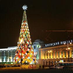 Albero di Natale artificiale a LED gigante per decorazione domestica all'aperto