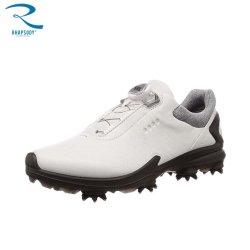 실제적인 가죽을%s 가진 골프 단화는 및 빠른 끈목 및 양말 기술 +TPU+Rubber+EVA+Movable 스파이크 TPU 기능적인 골프 단화를 방수 처리한다