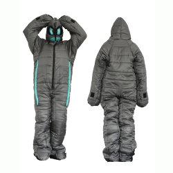 Sleeping Wearable Tasche Winter Warme Baumwolle Insgesamt Mummy Schlafsack Ganzkörperdecke für Outdoor und Indoor Camping Esg15134