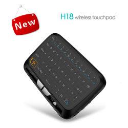 Mini clavier sans fil 2.4GHz H18 le pavé tactile Le clavier pour TV Box