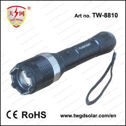 Алюминий безопасности электрический фонарик с фонариком и изумите оружие самообороны