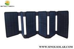 40W portátil plegable portátil y teléfono del panel solar para portátiles Cargador 19V (FSC-F0-400)