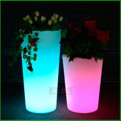 Potenciômetro de flores de LED LED de iluminação da Plantadeira de flores com mudança de cor